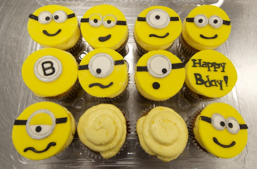 2d minion cupcake toppers - Whimsical Cake Studio