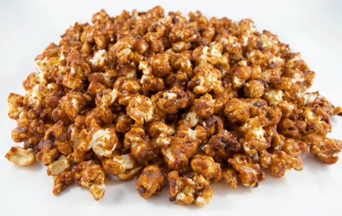 Pork Corn- Carmel Popcorn, Bacon and Peanuts = Yums