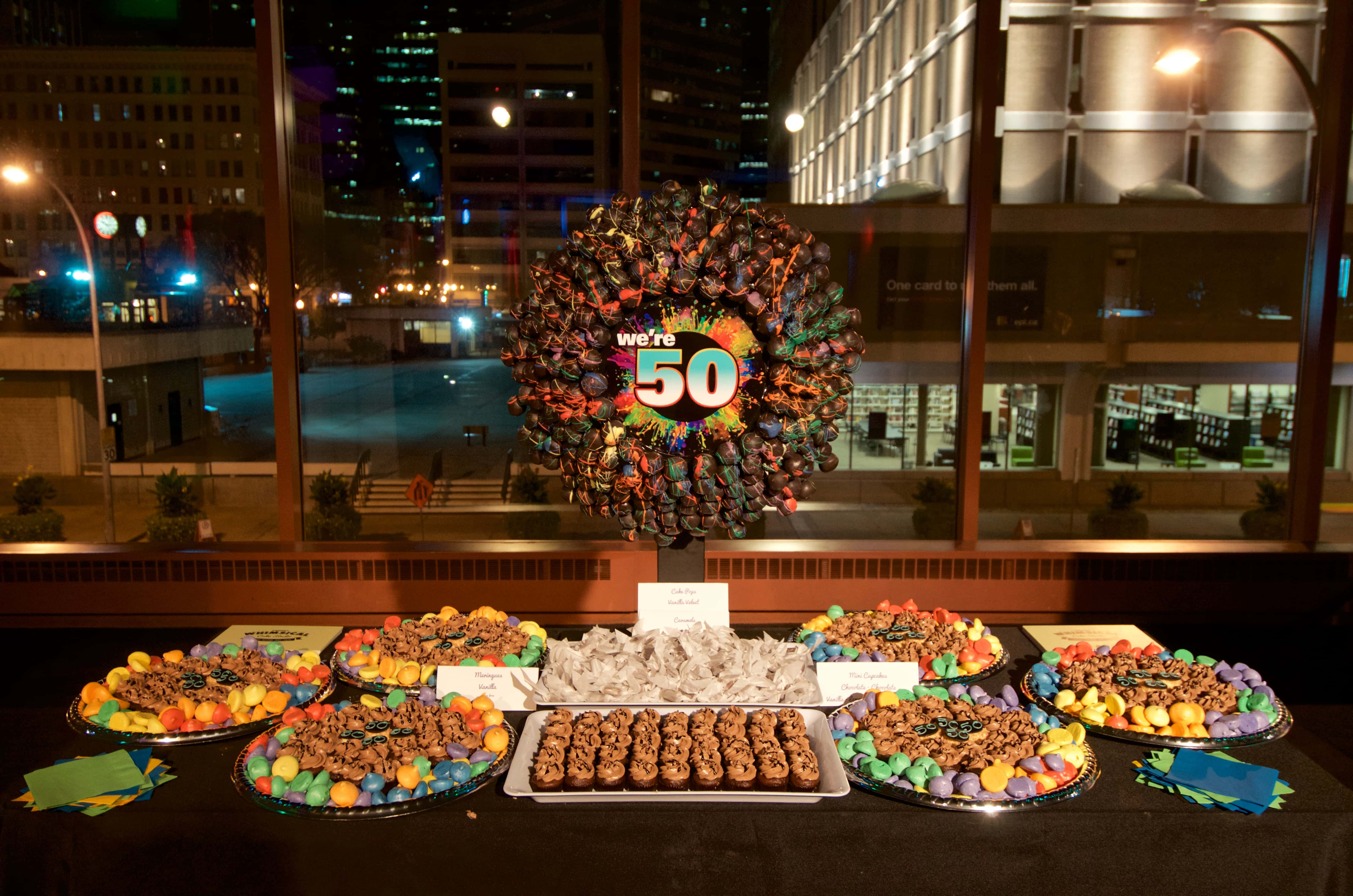 Custom Event Candy Table and Stand - baked Goods