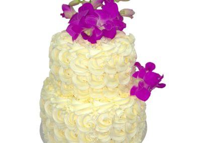 Butter cream and flowers