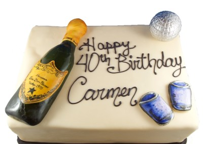Champagne and Disco Slab Cakes