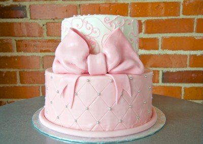 Piping on Quilting 2 Tier Women's Cake