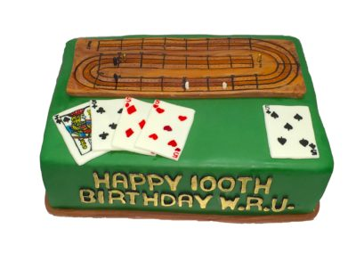 Cribbage board cake