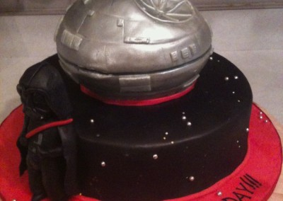 Vader and Death Star Theme Cake