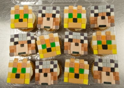 Minecraft Characters cupcakes