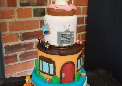 The Simpsons 3 Tier Favourite Cakes