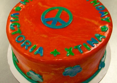 Tie-Dyed Peace Women's Cake