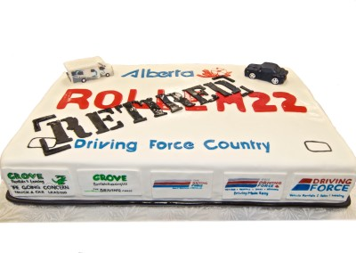 Driving Force Retirement Cake