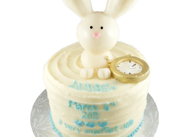 Bunny and Pocket Watch Women's Cake