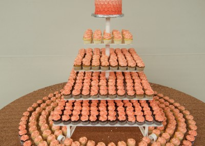 Ombre Peach and Salmon Cupcake Tower