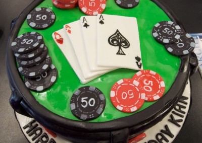 Laying Down 4 Aces Poker Mens Cakes