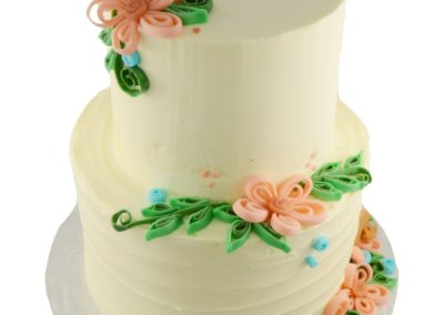 Ribbon Flowers on Buttercream