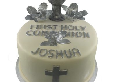 Silver holy first communion