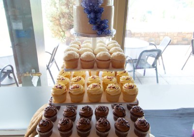 Ombre Geode Topped Wedding Cupcake Tower