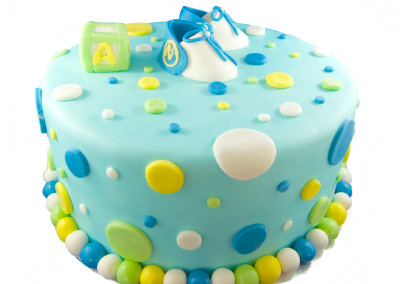 Shoes and Block Baby Shower Family Celebration Cake