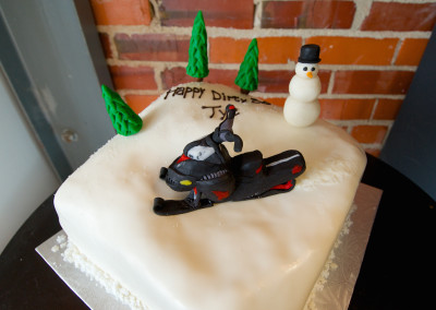 Snow Mobile on the Hill Mens Cakes