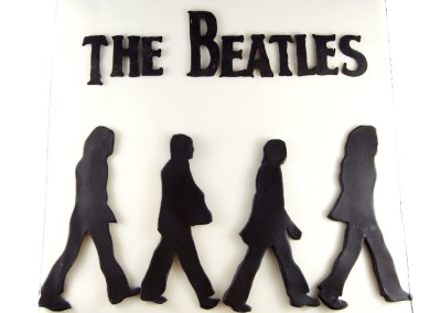 Beatles Cover Silhouette Mens Cakes