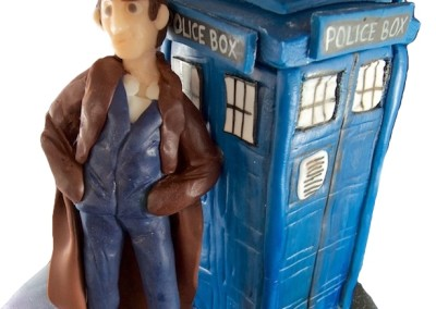 Dr Who and Tardis in Space Theme Cake